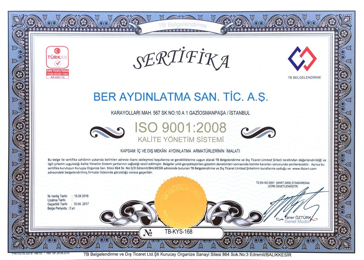 Berlite iso sertifikası